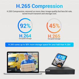 ESCAM NVR Kit HD 8Ch with 8 CCTV 3MP - PVR602 - Black - 3