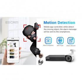 ESCAM NVR Kit HD 8Ch with 8 CCTV 3MP - PVR602 - Black - 6