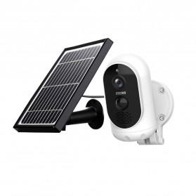 ESCAM G12 WiFi IP Camera CCTV HD 1080P 2MP Solar Panel - White - 4