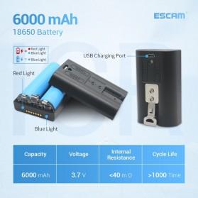 ESCAM G12 WiFi IP Camera CCTV HD 1080P 2MP Solar Panel - White - 7