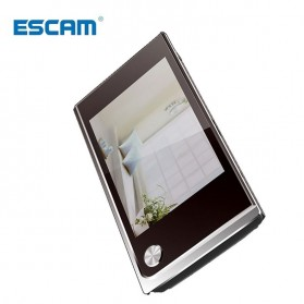 ESCAM C01 Kamera Pintu Home Security Smart Doorbell LCD Monitor 3.5 Inch - Black - 2