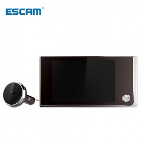ESCAM C01 Kamera Pintu Home Security Smart Doorbell LCD Monitor 3.5 Inch - Black - 3