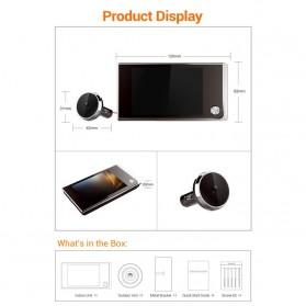 ESCAM C01 Kamera Pintu Home Security Smart Doorbell LCD Monitor 3.5 Inch - Black - 5