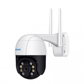 ESCAM QF218 Dome WiFi IP Camera CCTV 1/2.7 Inch CMOS 1080P with LED Light - White