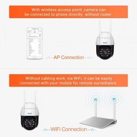 ESCAM QF218 Dome WiFi IP Camera CCTV 1/2.7 Inch CMOS 1080P with LED Light - White - 7