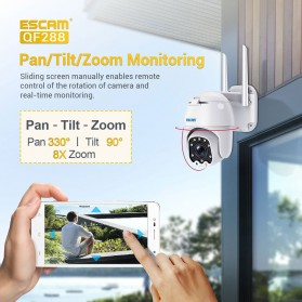 ESCAM QF288 Dome WiFi IP Camera CCTV 1/2.7 Inch CMOS 1080P 8xZoom with LED Light - White - 3