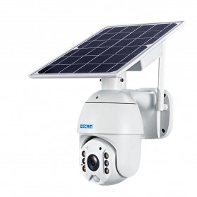 ESCAM QF280 WiFi IP Camera CCTV 1/2 Inch CMOS 1080P Solar Panel with LED Light - White - 2