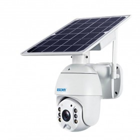 ESCAM QF280 WiFi IP Camera CCTV 1/2 Inch CMOS 1080P Solar Panel with LED Light - White - 4