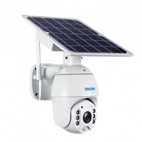 ESCAM QF280 WiFi IP Camera CCTV 1/2 Inch CMOS 1080P Solar Panel with LED Light - White - 5