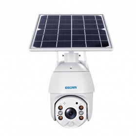 ESCAM QF280 WiFi IP Camera CCTV 1/2 Inch CMOS 1080P Solar Panel with LED Light - White - 6