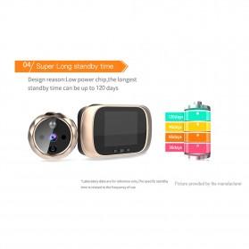 ESCAM C03 Kamera Pintu Home Security Smart Doorbell LCD Monitor 2.8 Inch - Golden - 10
