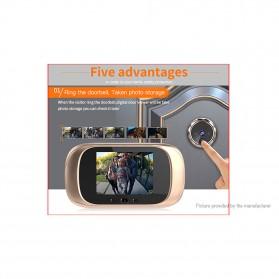 ESCAM C03 Kamera Pintu Home Security Smart Doorbell LCD Monitor 2.8 Inch - Golden - 3