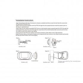 ESCAM C03 Kamera Pintu Home Security Smart Doorbell LCD Monitor 2.8 Inch - Golden - 8