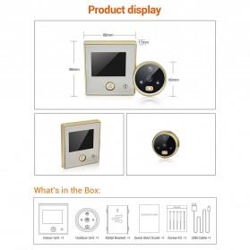 ESCAM C07 Kamera Pintu Home Security Smart Doorbell LCD Monitor 4.3 Inch - Golden - 3