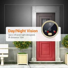 ESCAM C07 Kamera Pintu Home Security Smart Doorbell LCD Monitor 4.3 Inch - Golden - 4