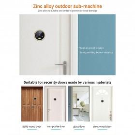 ESCAM C07 Kamera Pintu Home Security Smart Doorbell LCD Monitor 4.3 Inch - Golden - 5