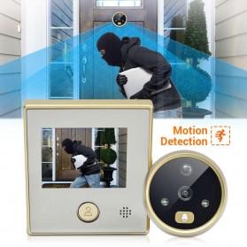 ESCAM C07 Kamera Pintu Home Security Smart Doorbell LCD Monitor 4.3 Inch - Golden - 6