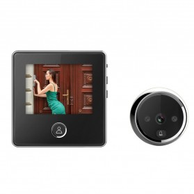 ESCAM C05 Kamera Pintu Home Security Smart Door Viewer Peephole LCD Monitor 3 Inch - Black