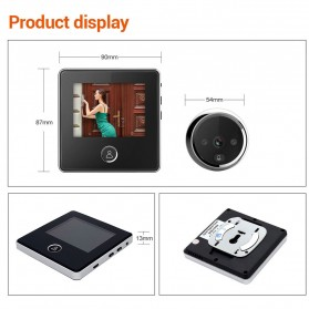 ESCAM C05 Kamera Pintu Home Security Smart Door Viewer Peephole LCD Monitor 3 Inch - Black - 6