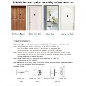 ESCAM C05 Kamera Pintu Home Security Smart Door Viewer Peephole LCD Monitor 3 Inch - Black - 7