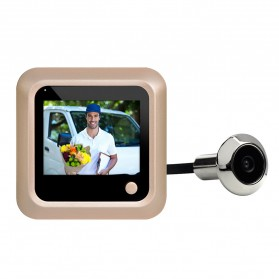 ESCAM C08 Kamera Pintu Home Security Smart Doorbell LCD Monitor 2.4 Inch - Golden