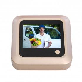 ESCAM C08 Kamera Pintu Home Security Smart Doorbell LCD Monitor 2.4 Inch - Golden - 2