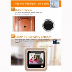 ESCAM C08 Kamera Pintu Home Security Smart Doorbell LCD Monitor 2.4 Inch - Golden - 6