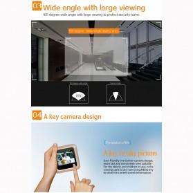 ESCAM C08 Kamera Pintu Home Security Smart Doorbell LCD Monitor 2.4 Inch - Golden - 7