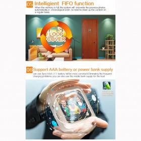 ESCAM C08 Kamera Pintu Home Security Smart Doorbell LCD Monitor 2.4 Inch - Golden - 8