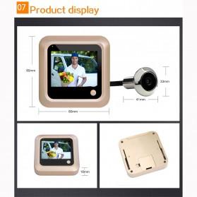 ESCAM C08 Kamera Pintu Home Security Smart Doorbell LCD Monitor 2.4 Inch - Golden - 9
