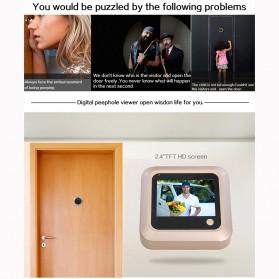 ESCAM C08 Kamera Pintu Home Security Smart Doorbell LCD Monitor 2.4 Inch - Golden - 10