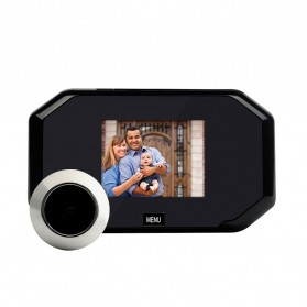 ESCAM C09 Kamera Pintu Home Security Smart Door Viewer Peephole LCD Monitor 3 Inch - Black