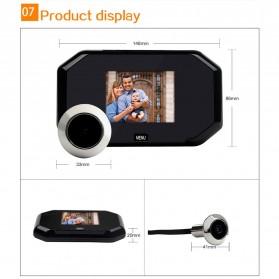 ESCAM C09 Kamera Pintu Home Security Smart Door Viewer Peephole LCD Monitor 3 Inch - Black - 7