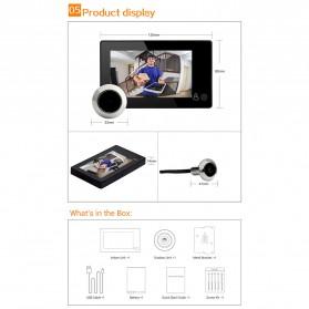 ESCAM C10 Kamera Pintu Home Security Smart Door Viewer Peephole LCD Monitor 4.3 Inch - Black - 11