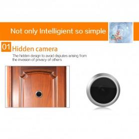 ESCAM C10 Kamera Pintu Home Security Smart Door Viewer Peephole LCD Monitor 4.3 Inch - Black - 7