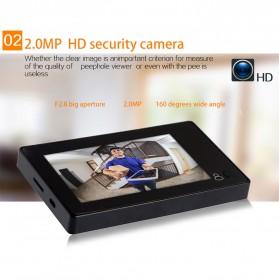 ESCAM C10 Kamera Pintu Home Security Smart Door Viewer Peephole LCD Monitor 4.3 Inch - Black - 8