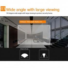 ESCAM C10 Kamera Pintu Home Security Smart Door Viewer Peephole LCD Monitor 4.3 Inch - Black - 9