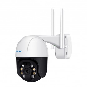 ESCAM QF518 Dome WiFi IP Camera CCTV 1/2.7 Inch CMOS 5MP with LED Light - White - 2