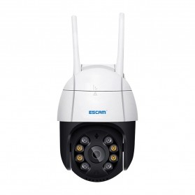 ESCAM QF518 Dome WiFi IP Camera CCTV 1/2.7 Inch CMOS 5MP with LED Light - White - 3