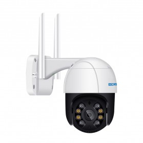 ESCAM QF518 Dome WiFi IP Camera CCTV 1/2.7 Inch CMOS 5MP with LED Light - White - 4