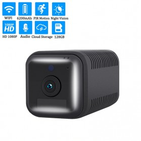 ESCAM Smart Mini WIFI IP Camera CCTV Spy Cam Night Vision Audio - G18 - Black