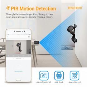 ESCAM Smart Mini WIFI IP Camera CCTV Spy Cam Night Vision Audio - G18 - Black - 9
