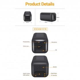 ESCAM Smart Mini WIFI IP Camera CCTV Spy Cam Night Vision Audio - G18 - Black - 10