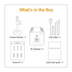 ESCAM Smart Mini WIFI IP Camera CCTV Spy Cam Night Vision Audio - G18 - Black - 11