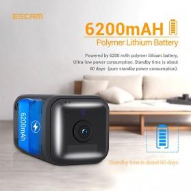 ESCAM Smart Mini WIFI IP Camera CCTV Spy Cam Night Vision Audio - G18 - Black - 2