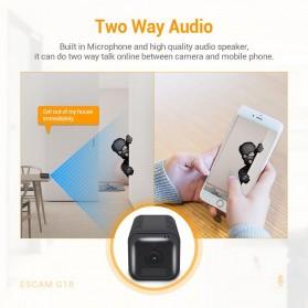 ESCAM Smart Mini WIFI IP Camera CCTV Spy Cam Night Vision Audio - G18 - Black - 3
