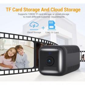 ESCAM Smart Mini WIFI IP Camera CCTV Spy Cam Night Vision Audio - G18 - Black - 5