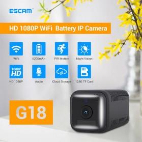 ESCAM Smart Mini WIFI IP Camera CCTV Spy Cam Night Vision Audio - G18 - Black - 7
