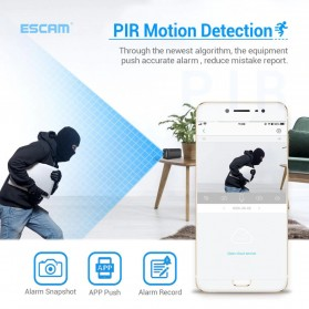 ESCAM Smart Mini WIFI IP Camera CCTV Spy Cam Night Vision Audio 4G LTE - G20 - Black - 4