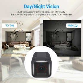 ESCAM Smart Mini WIFI IP Camera CCTV Spy Cam Night Vision Audio 4G LTE - G20 - Black - 7